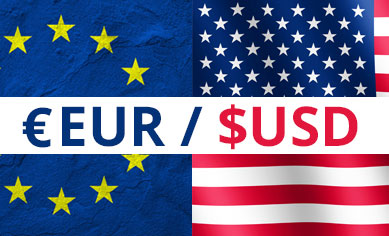 What Is Forex EUR / USD Image with Flags